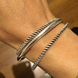 .925 sterling silver bangle hinge bracelet